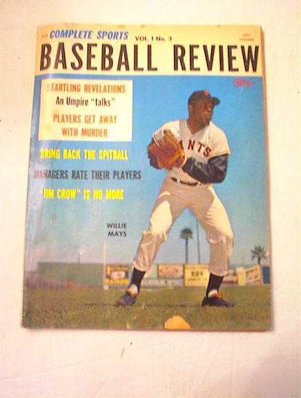 1961 BASEBALL REVIEW VOL.1,NO.3 WILLIE MAYS