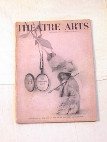 Sept,1959 Theatre Arts THE NOSTALGIA issue