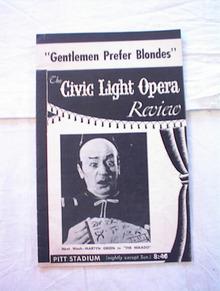 Gentlemen Prefer Blondes 1953 Pitt Stadium