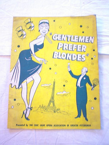 GENTLEMEN PREFER BLONDS 1953 PROGRAM