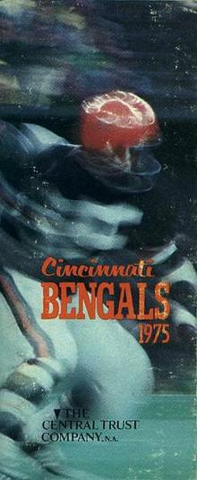 Media Guide, CINCINNATI BENGALS, 1975