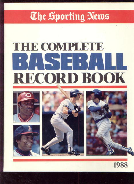 The Complete Baseball Record Book, 1988