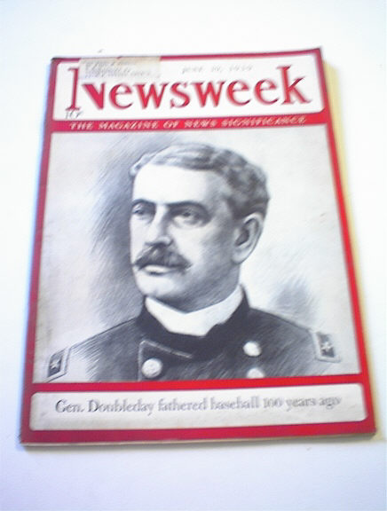 NEWSWEEK,5/19/39,Gen.Doubleday cover