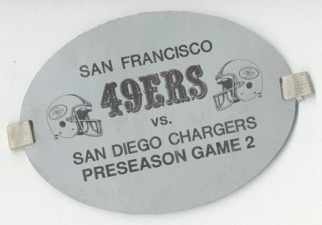 SF 49ers Game Pass Armband 1970s  UNIQUE