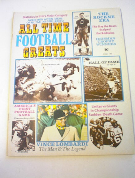 All Time Football Greats,Vince Lombardi cover