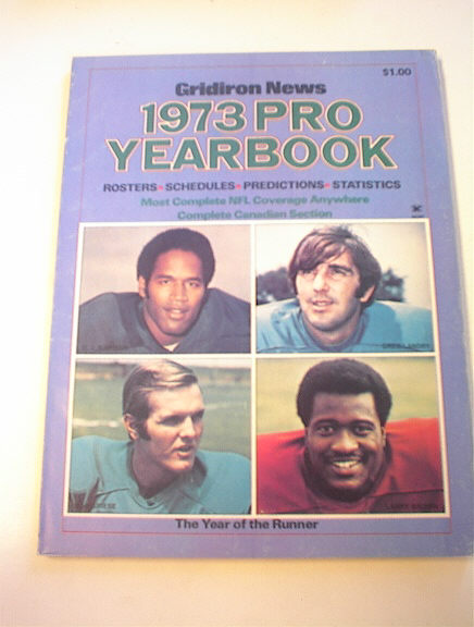 Gridiron News 1973 Pro Football yearbook