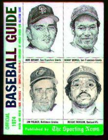 Offical Baseball Guide-Reggie Jackson Cover!