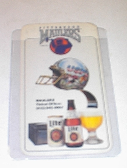 1984Pittsburgh MAULERS Miller Lite Schedule