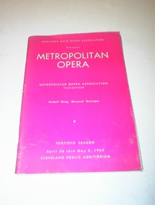 Metropolitan Opera April thru May 2,1965