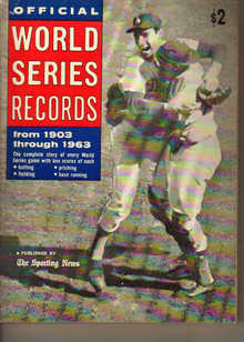 TSN/Official World's Series Records 1903-1963