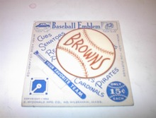 1952 BROWNS Baseball Emblem For Car or Bike