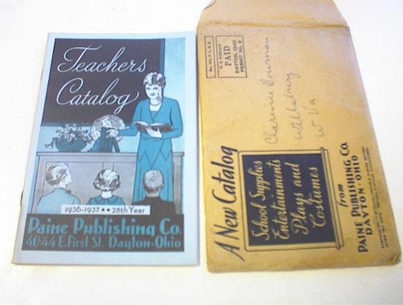 1936-37 Teachers Catalog Pain Publishing Co.
