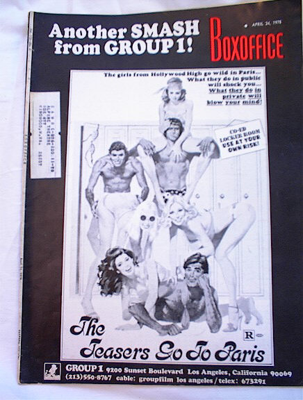 4/24/1978 ISSUE OF BOXOFFICE TEASERS COVER