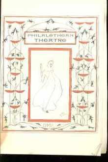 1901 Art Deco Philalethean Theatre Program VG
