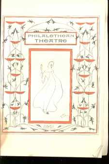 1901 Art Deco Philalethean Theatre Program VG