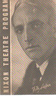 Fritz Leiber photo 10/18/1933 Nixon Theatre