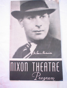NIXION THEATRE PROGRAM SIR CEDRIC HARDWICKE