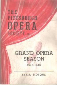 Pittsburgh Opera Society 1945-6 La Traviata