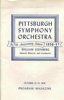 Program, PGH Symphony Orchestra, 10/12,14/56