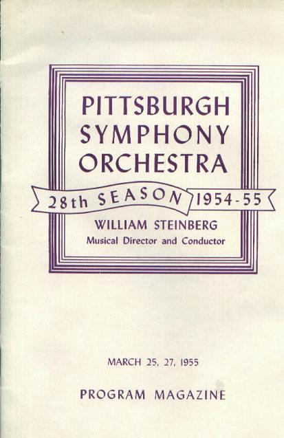 Program, PGH Symphony Orchestra, 3/25,27/55