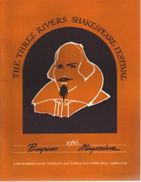 1986 3 Rivers Shakespeare Festival Program