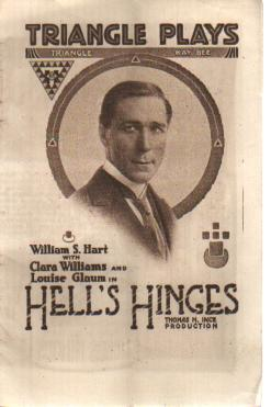 Wm S Hart Hell's Hinges Program circa 1915