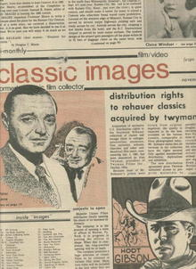 Classic Images-Vintage Film Cinema #72, 11/80