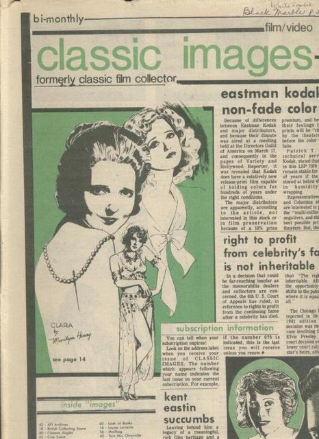 Classic Images-Vintage Film Cinema #75, 5/81