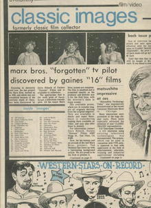 Classic Images-Vintage Film Cinema #76, 7/81