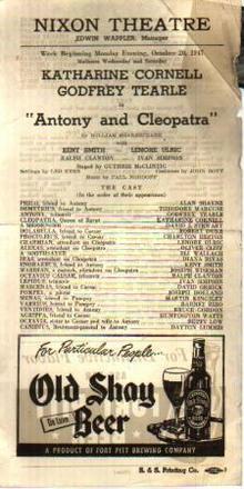 Charlton Heston 1947 Antony & Cleopatra