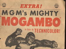 MGM's MOGAMBO ad- Gable, Gardner, Kelly 1953