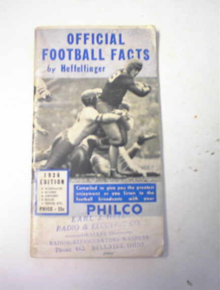 1936 Offical Football Facts by Heffelfinger