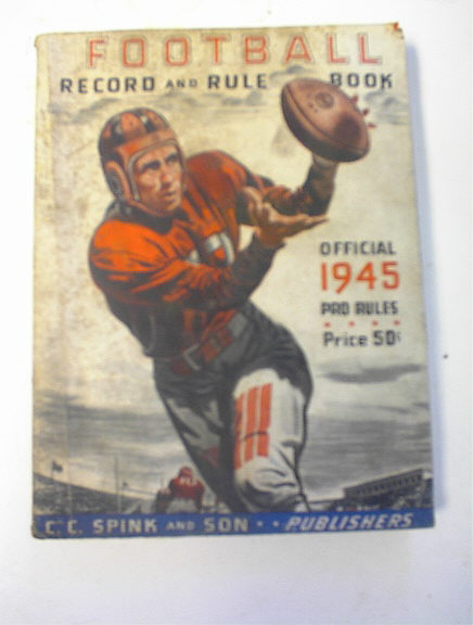 1945 Football Record and Rule Book