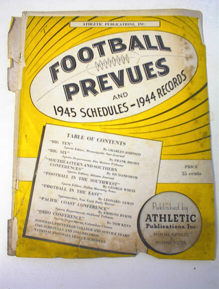 Football Prevues and 1945 Schedules & Records