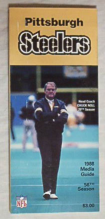 PITTSBURGH STEELERS 88 Media Guide/CHUCK NOLL