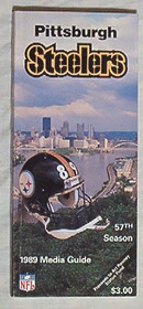PITTSBURGH STEELERS 1989 Media Guide GREAT !