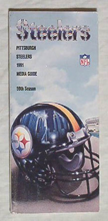 PITTSBURGH STEELERS! 1991 Media Guide NFL