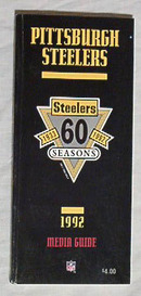 PITTSBURGH STEELERS 92 Media Guide 60th Anniv