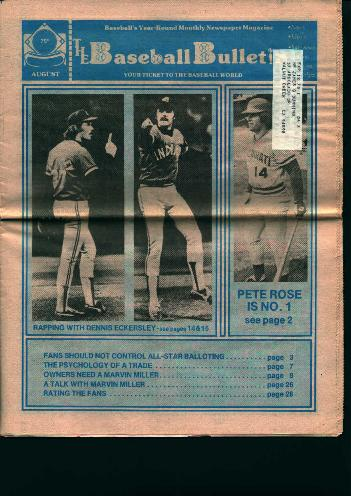 Baseball Bulletin from August 1977!