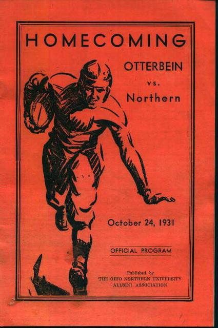 Otterbien vs Northern  Program 10/24/31