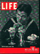 Life 6/16/41 Babe Ruth at Lou Gehrig's Wake