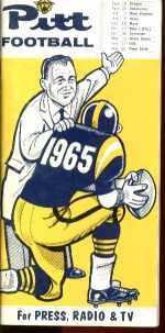university of Pitt football media guide 1965