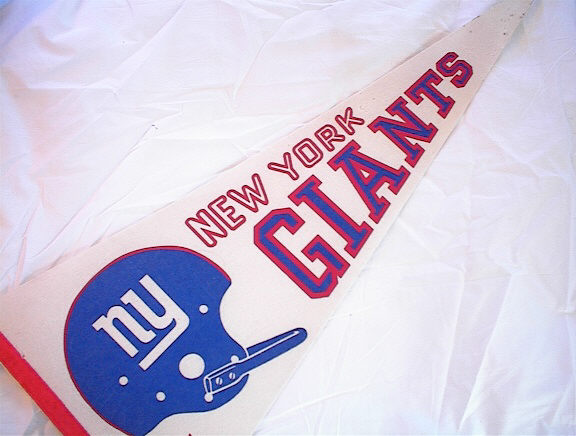 GREAT 1960's NEW YORK GIANTS FLAG       L@@K