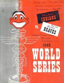 1948 World Series, Braves vs. Indians prg.