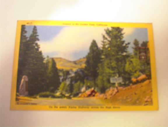 c1930 Summit Of Kit Carson Pass,california