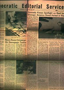 Democratic Editiorial-10/22/60- JFK Photos!
