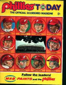 Phillies Scorecard Magazine from 1983!