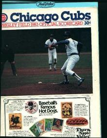Chicago Cubs 1983 Scorecard!