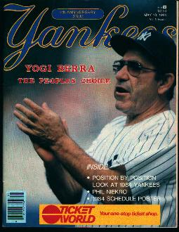 Yankees Magazine-5/10/84-Yogi Berra Cover!