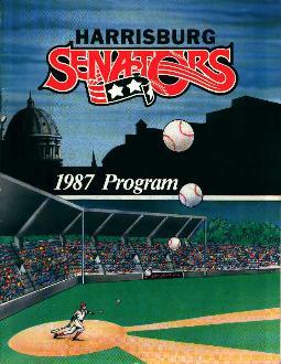 Harrisburg Senators 1987 Program!